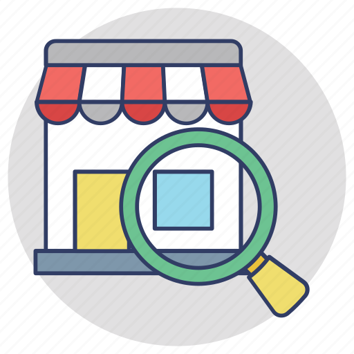 find shop, find the store, search marketplace, search store, stores near me icon