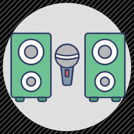 mic, music system, sound system, speaker, woofer icon