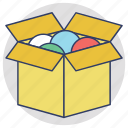 cardboard box, delivery box, package, parcel, shipping box icon