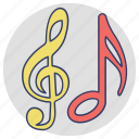 eighth notes, lyrics, music concept, music notes, quaver icon
