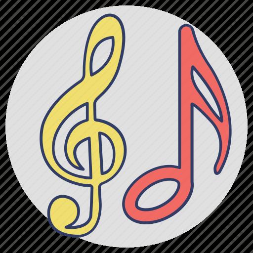 eighth notes, lyrics, music concept, music notes, quaver icon