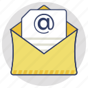 correspondence, email, inbox, message, online communication icon