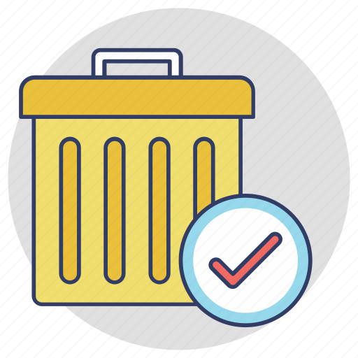 deleted, moved to recycle, recycle bin, removed, trash can icon