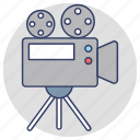 filming, movie camera, video camera, video production, videography icon