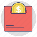 cash, dollar coin, money, save money, savings icon