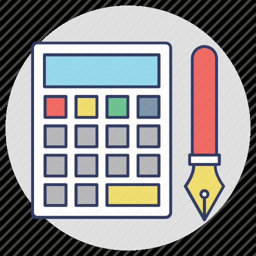 accounting, adding machine, calculator, estimator, financial icon