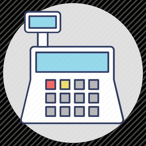 adding machine, cash box, cash till, money box icon