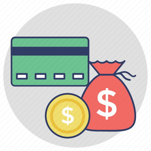 alternative payments, credit card, finance, money sack, payment methods icon