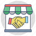 business deal, business partners, business shake hands, future business, partnership agreement icon