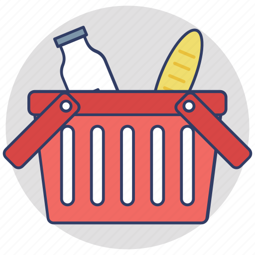 add to basket, buy online, ecommerce, grocery basket, shopping basket icon