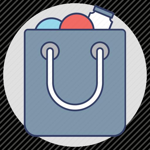grocery bag, reusable bag, shopper bag, shopping bag, tote bag icon