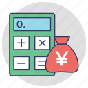 accounting, budgeting, calculator, finance estimation, financial management icon