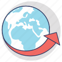 around the world, global communications, global community, international, worldwide icon