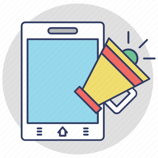 marketing campaign, mobile advertising, mobile marketing, mobile promotion, seo icon