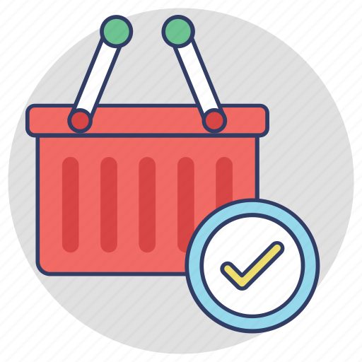 approved products, ecommerce, order confirmation, selected products, shopping checkout icon