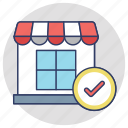 ecommerce, online marketplace, online order, selected shop, webshop icon