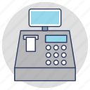 adding machine, cash box, cash register, cash till icon
