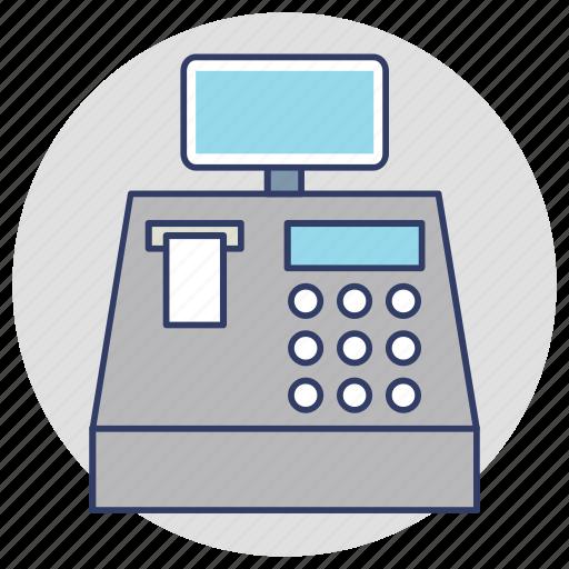 adding machine, cash box, cash register, cash till icon