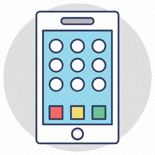 mobile app layout, mobile interface, mobile menu, smartphone, touch screen mobile icon