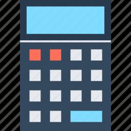 accounting, budget, calculate, calculator, math, mathematics, school icon