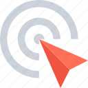 commerce, marketing, pay per click, pointer, ppc, seo, target icon
