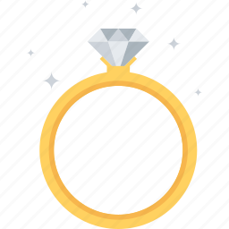 diamond, gem, gold, jewelry, marriage, ring, wedding icon