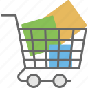 buggy, carriage, shopping cart, shopping push cart, shopping trolley icon