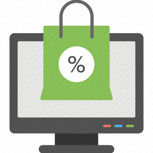 digital commerce, ecommerce, internet shopping, online shopping, web shopping icon