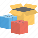 boxes, delivery, gifts, packaging, parcels icon
