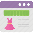clothing shop, ecommerce, fashion store, online store, webshop icon