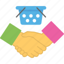 agreement, contract, partnership, purchase deal, shopping contract icon