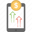 mobile payment, mobile transactions, mobile transfer, money transfer, online transaction icon