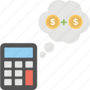 budget calculation, economy plan, financial planning, money calculation, money planning icon