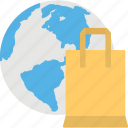 global market, global shopping, international products, international shopping, online shopping icon