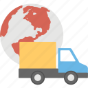 global delivery, global shipping, international delivery, international shipping, world wide shipping icon