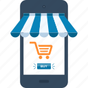 commerce, ecommerce, market, mobile, shop, shopping, store icon