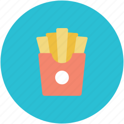 chips, french fries, fries, junk food, potato fries icon