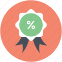award badge, badge, offer badge, percentage award, ribbon icon