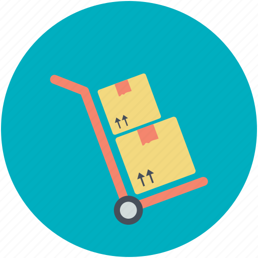 cargo cart, cargo trolley, cart pushing, pushing trolley, shopping trolley icon