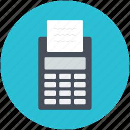 card swipe machine, card terminal, edc machine, invoice machine, swap machine icon