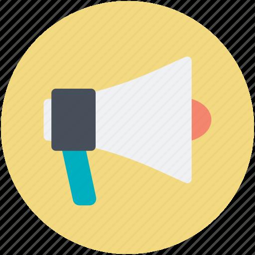 advertising, announcement, bullhorn, loud hailer, megaphone icon