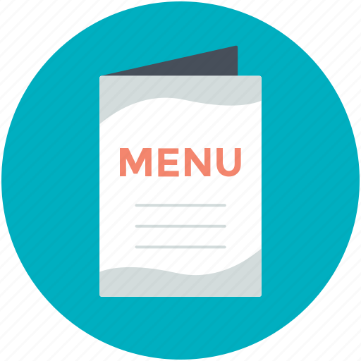 carte du jour, cuisine, food menu, menu book, menu card icon