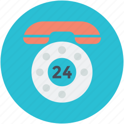 call center, customer service, full service, twenty four hours icon