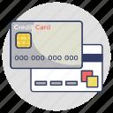 credit card, internet banking, atm card, debit card, plastic money icon