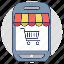 mobile shopping, buy online, online shopping, mobile shopping app, m commerce icon