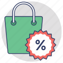 sale offer, sale promotions, shopping bag, shopping discount, special offers icon