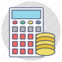 accounting, bookkeeping, budget, budget calculator, budget planning icon