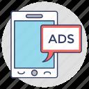 digital marketing, mobile ads, mobile advertising, mobile marketing, mobile publicity icon