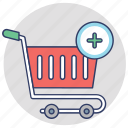 buy online, add to cart, shopping trolley, online shopping, ecommerce icon