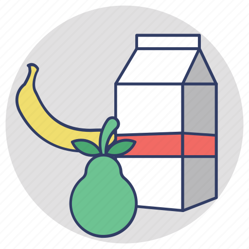 fruits, juice carton, milk pack, nutrition, tetra pack icon